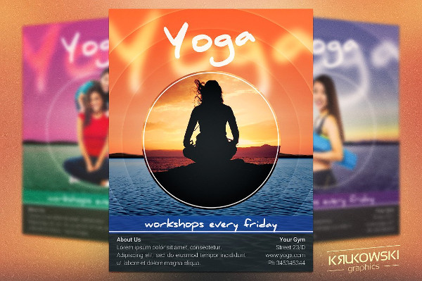 29 latest yoga flyer templates free premium download for Yoga brochure templates free