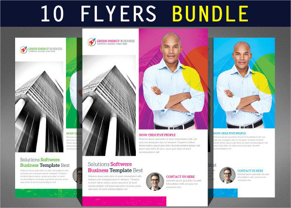 10 Corporate Business Audition Flyers Bundle