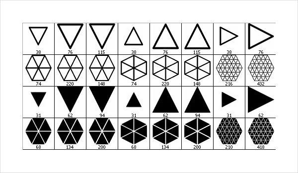 24 Triangle Brush Set