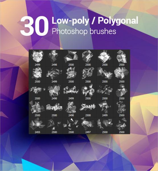 30 Geometrical Photoshop Brushes