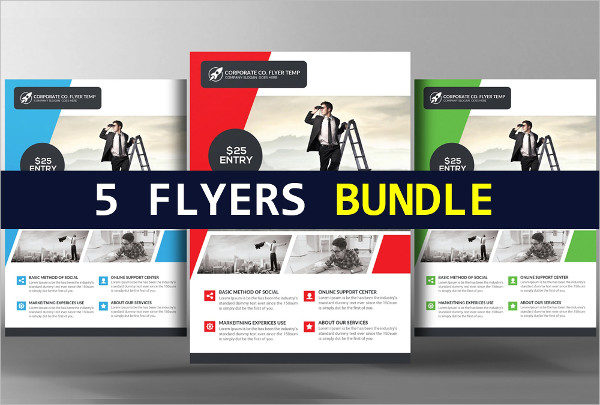 5 Creative Business Audition Flyers Bundle