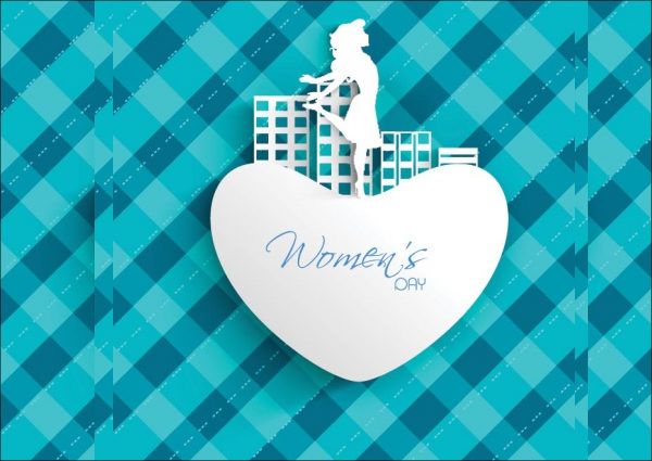 Abstract Women's Day Badge