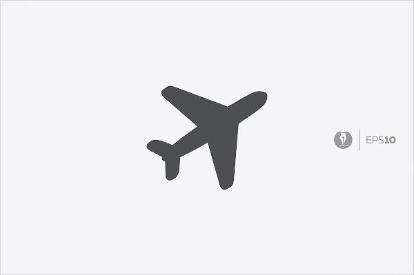 Abstract plane vector icon