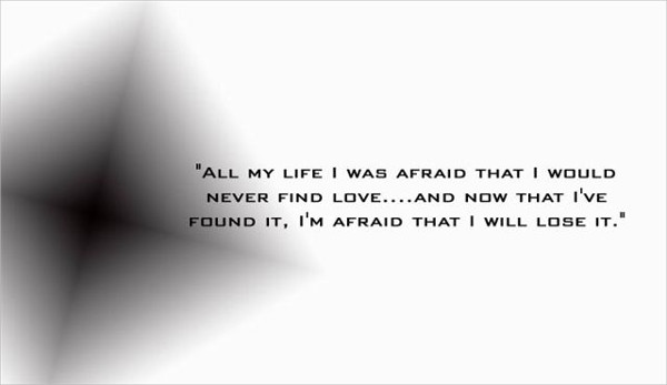 Afraid To Be Lost