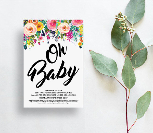 Aliiqbal Baby Shower Card Template