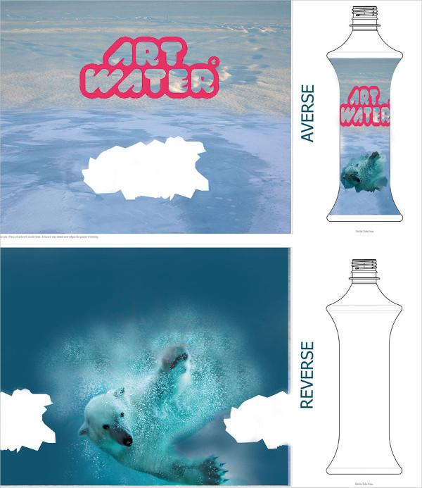 Art Water Bottle Label Templates