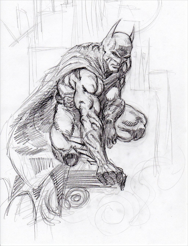 Batman Drawing by Finch