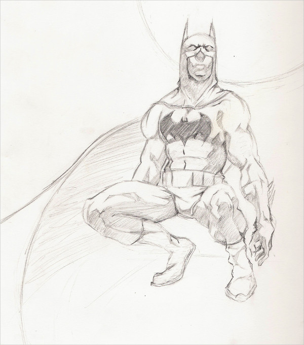 Batman Drawing by Richard Payne