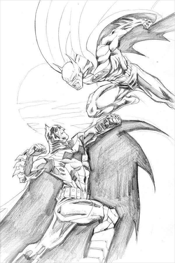 Batman Fight Drawing