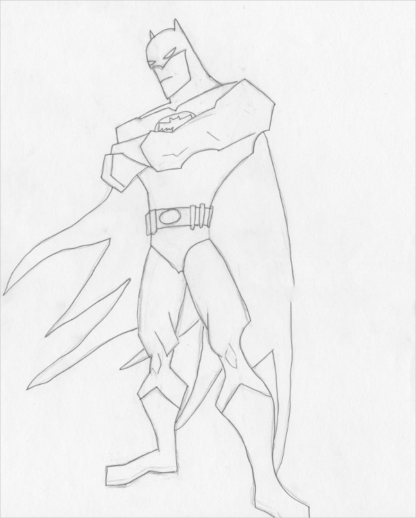 Batman Original Pencil Drawing