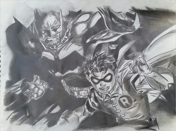Batman & Robin Drawing