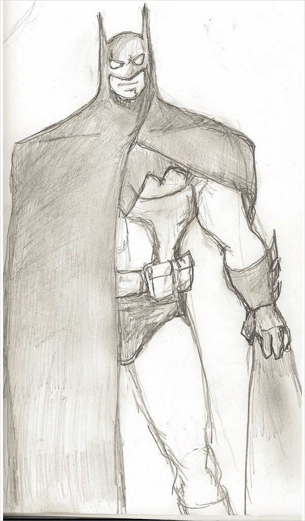 Batman Rough Drawing