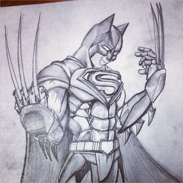 Batman dreams Drawing