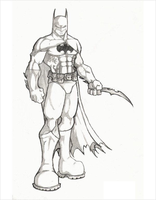 Batman with Weapon Drawing