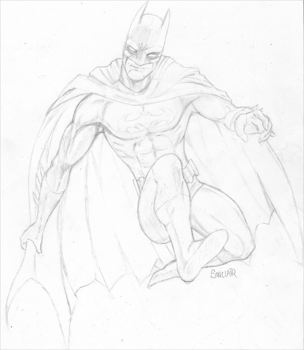 Beautiful Drawing of Batman