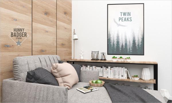 Blank Wall Poster Mockup
