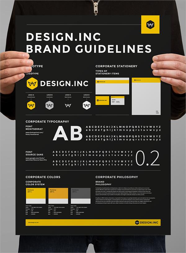 Brand Manual Corporate Poster
