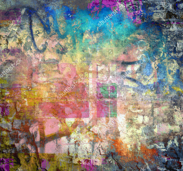 Grunge Colorful Texture Graffiti Background
