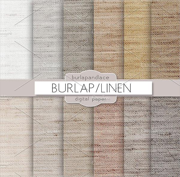 Burlap Natural Color Fabric Pattern