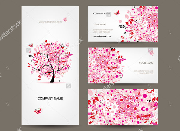 Business Cards with Floral Design