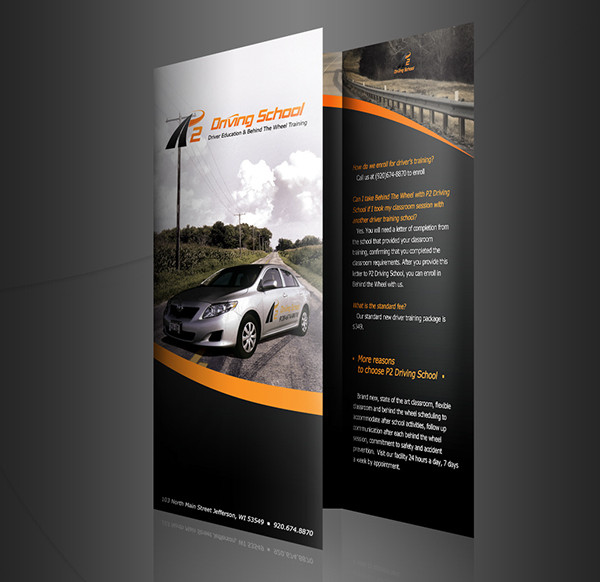 Car Driving School Brochure