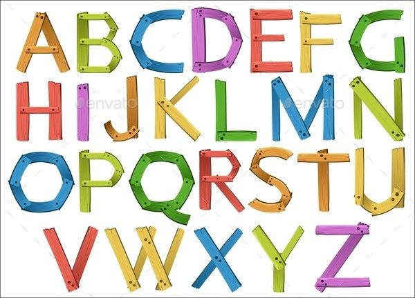 Cartoon Alphabet Upper Case Letter