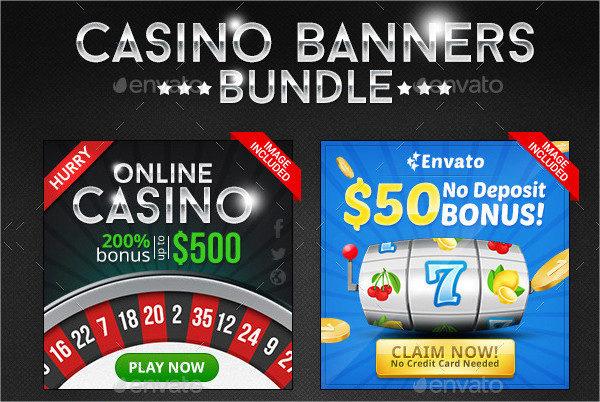 Casino Banner Design Bundle - 4 Sets