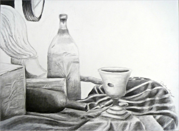 Charcoal Observational Drawing