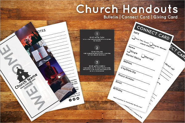 Church Bulletin & Connect Card Flyer