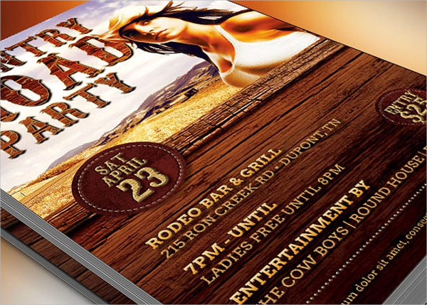 Country Road Party Flyer Template