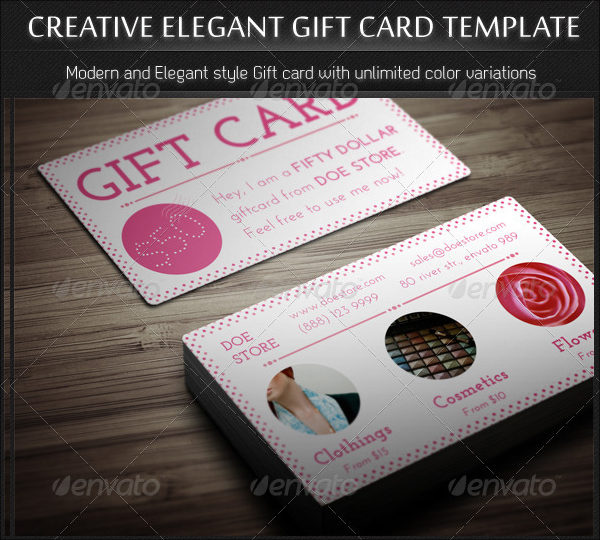 Creative Elegant Gift Card Template