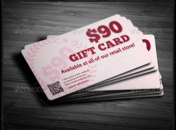 Creative Gift Card Template