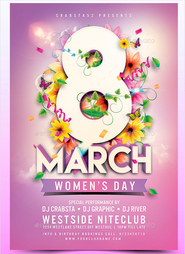 womens day flyer templates