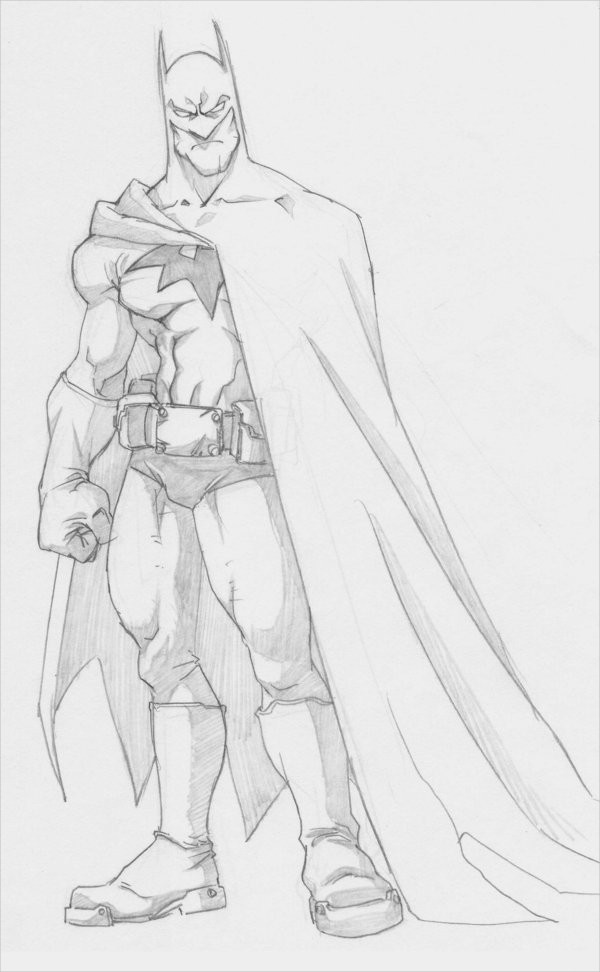 Cute Drawing of Batman