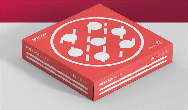 Double Pack Pizza Box Mock-Up