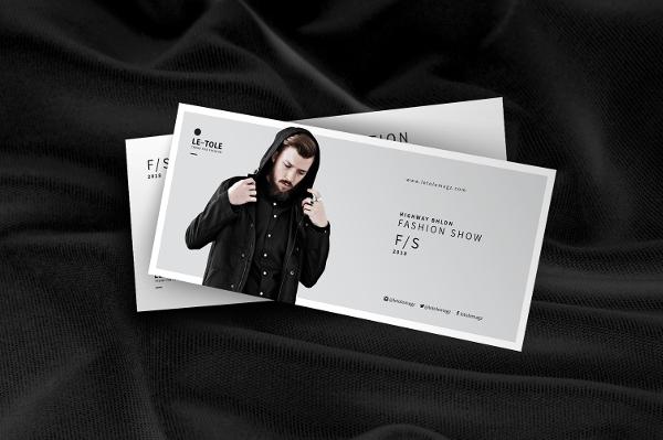 Fashion Show Invitation Card