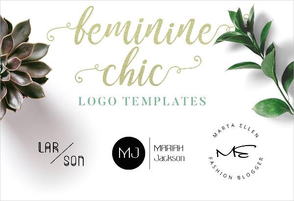 Femine Chic Logo Template