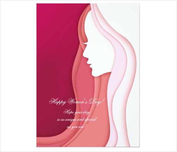 Feminine Women's Day Card