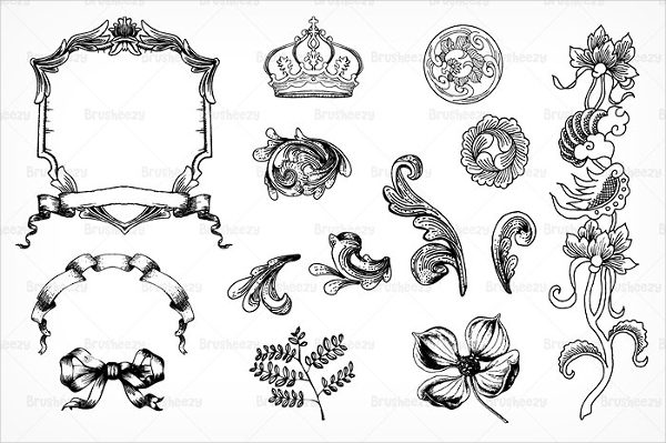 Floral Crown Brushes