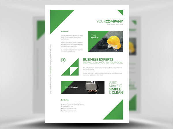 Free Clean Corporate A4 Poster