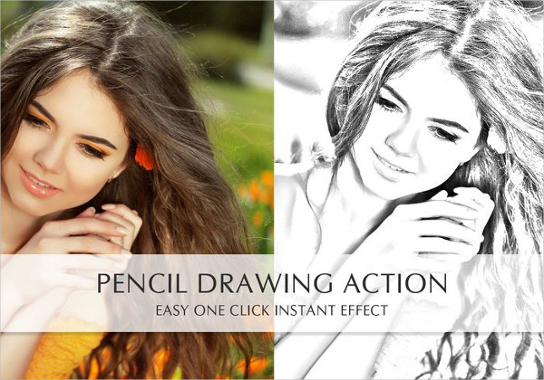 Free Drawing Photoshop Action