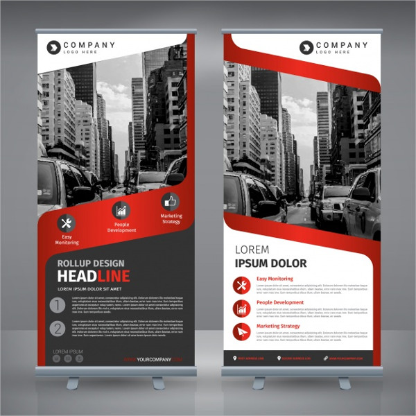 Free Roll Up Corporate Poster