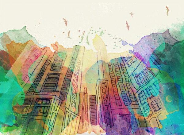 Freen Splashes Urban Background