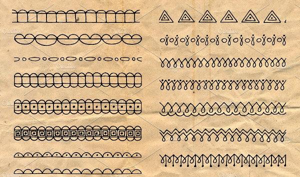 Geometric Brushes Illustrator