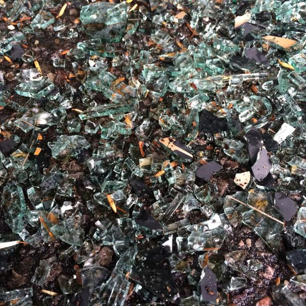 Broken Glass Background In Urban