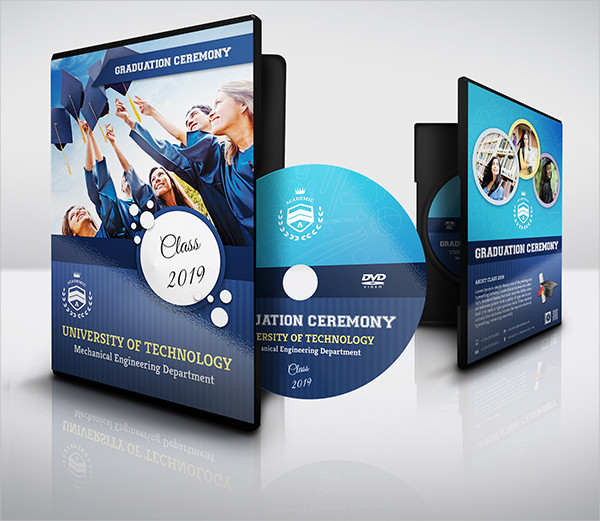 Graduation Ceremony DVD Cover And Label Template