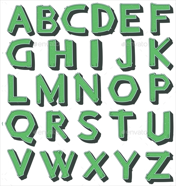 23  alphabet upper case letter templates