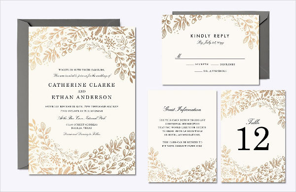 Harvest Flowers Wedding Card
