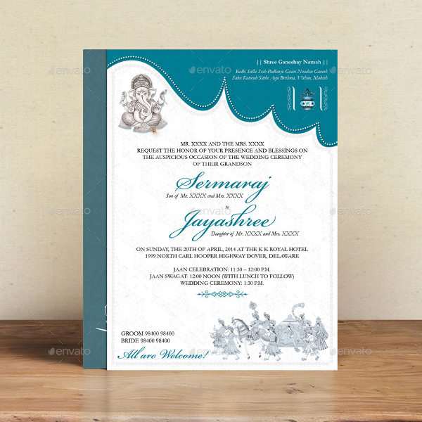 Hindu Wedding Card Template