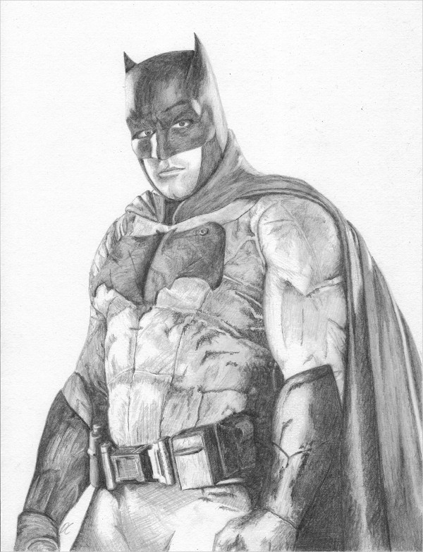 Justice League Batman Drawing